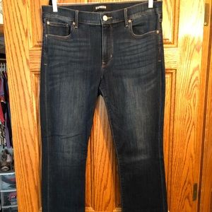 Express Mid Rise Barely Boot Jeans Long